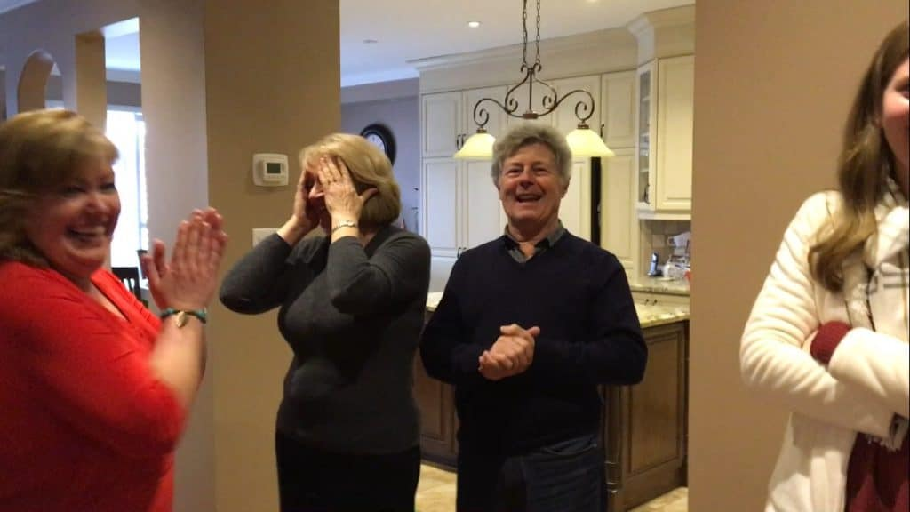 Surprising my dad for his 80th birthday