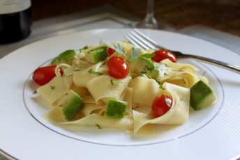 Egg Pasta with Avocado and Cherry Tomatoes and Another Lagostina Pastaiola Set and Skillet Giveaway!