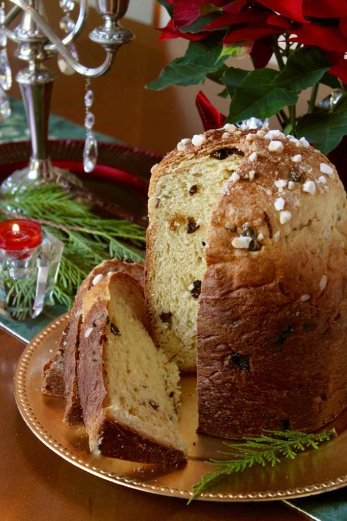 Panettone made in bread machine and cooked in the oven.