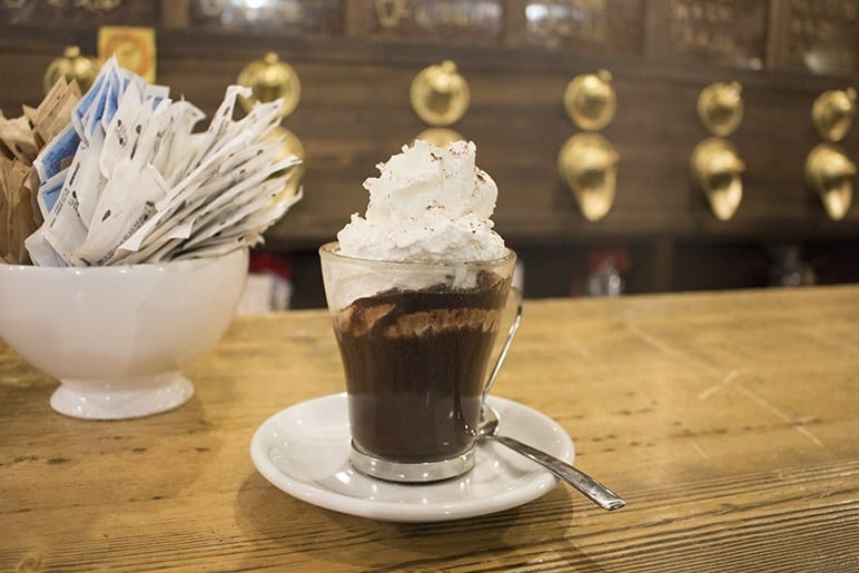 Luca's Italy hot chocolate