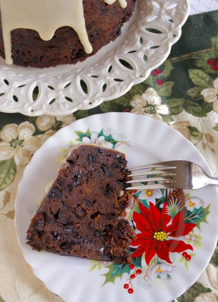 piece of Christmas pudding on a plate
