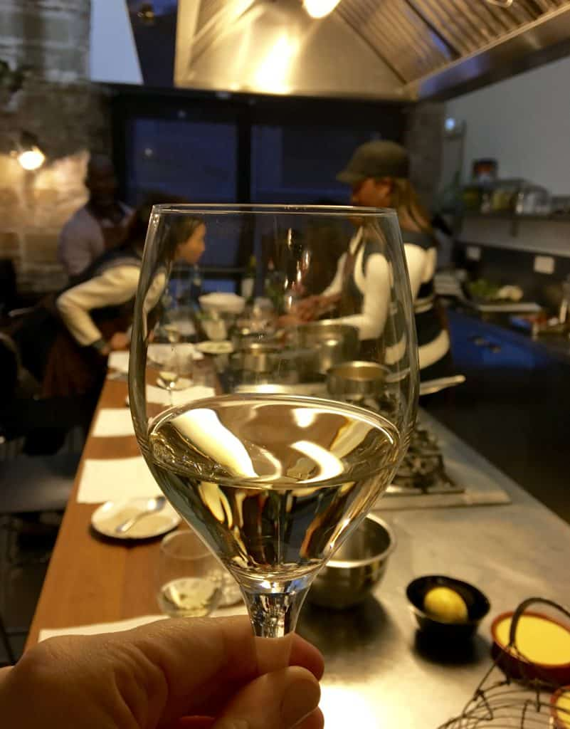 Glass of wine at Cook & Taste, Barcelona