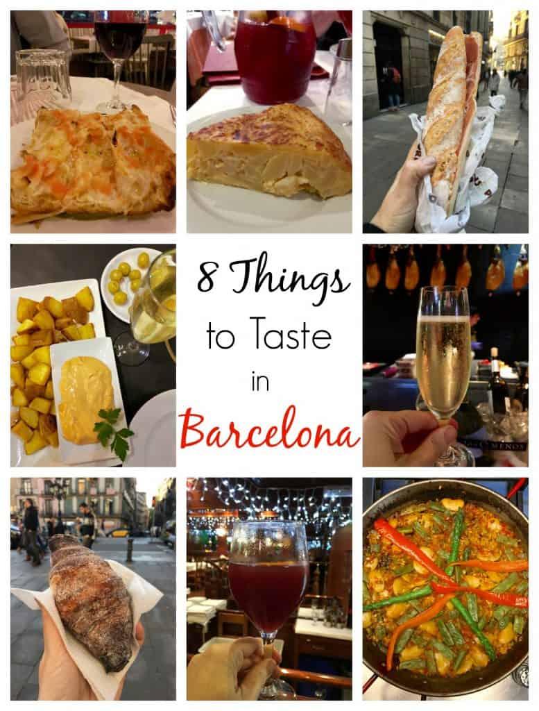 8 Things to Taste in Barcelona