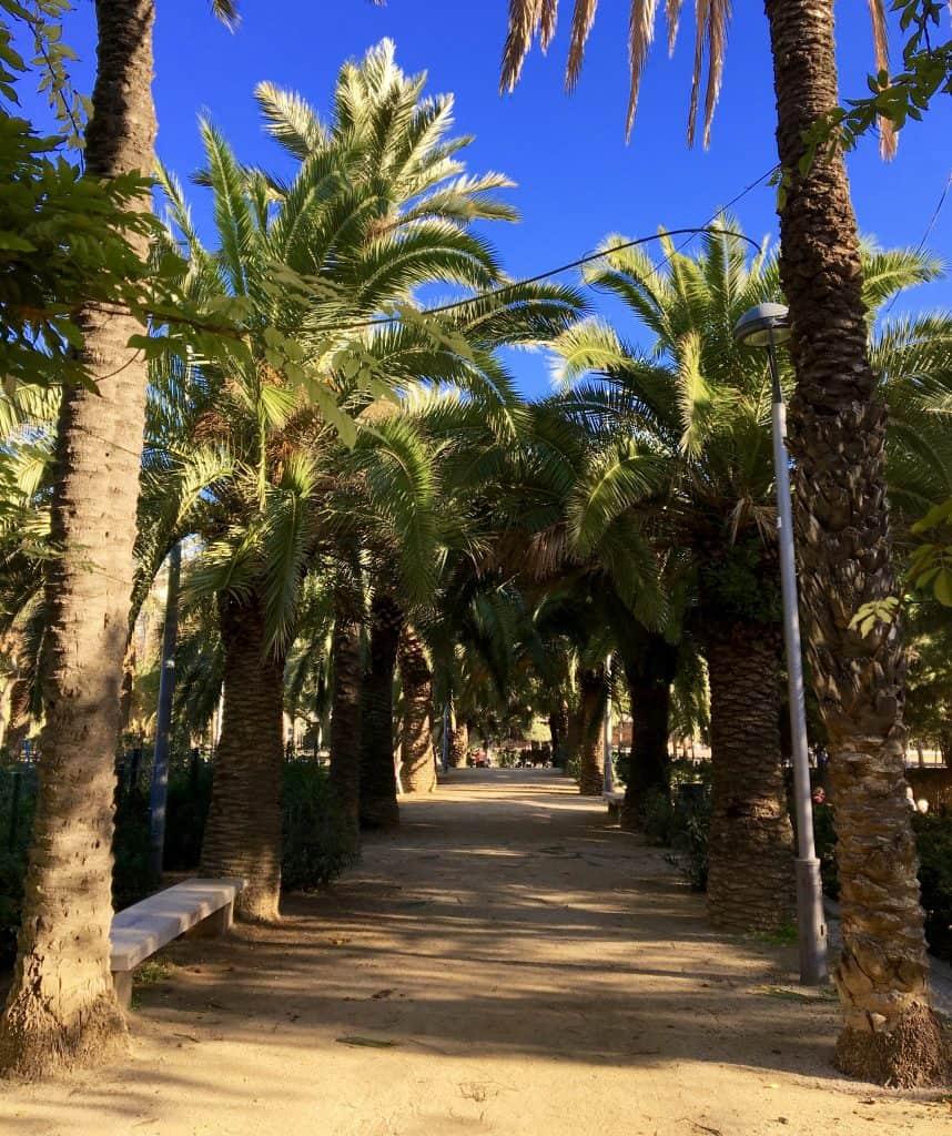 Parc De Joan Miró in Barcelona, Spain