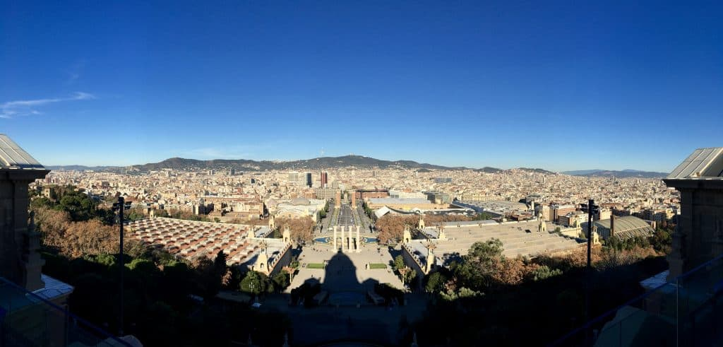 The View from The National Art Museum of Catalonia