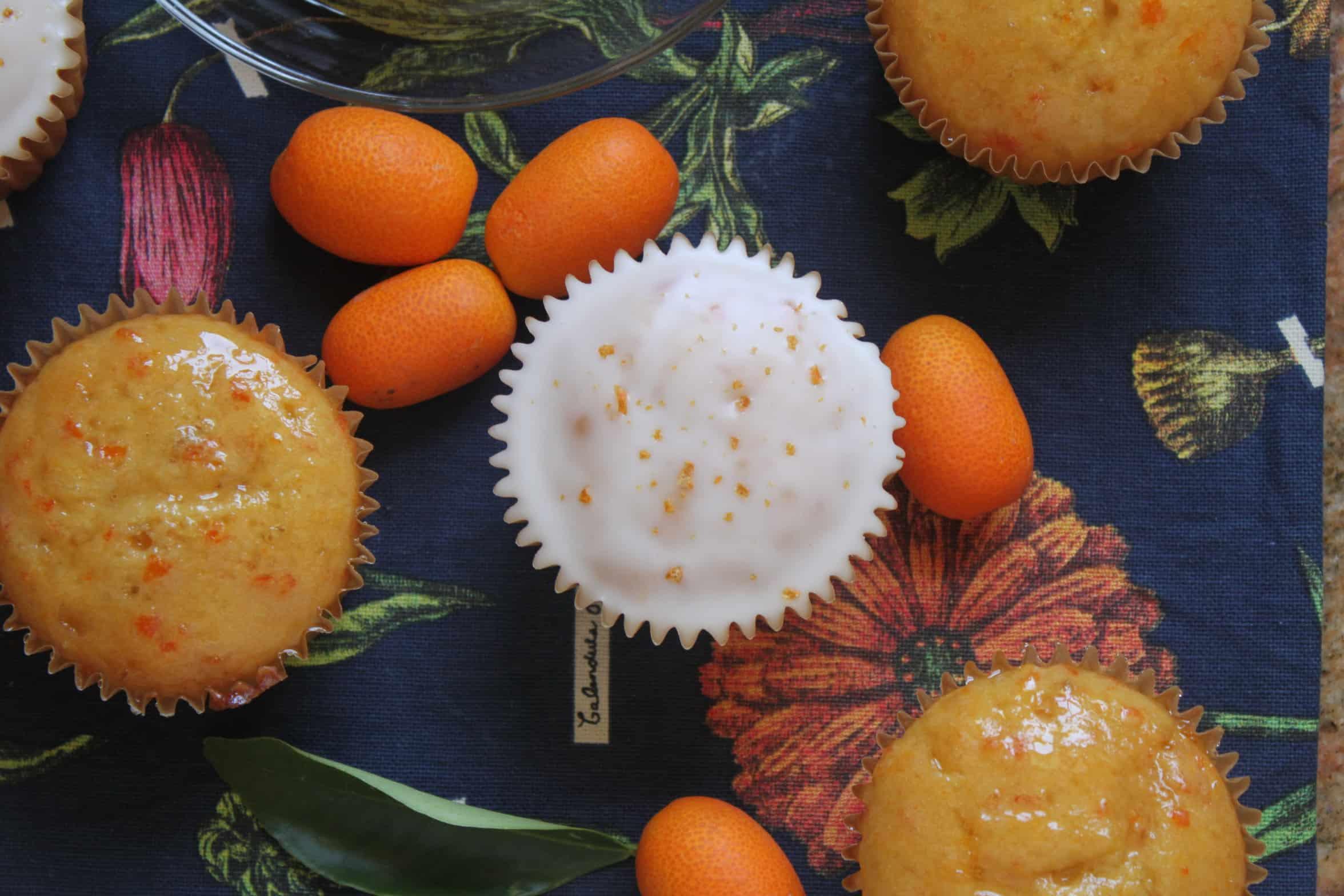 kumquat cupcakes, overhead
