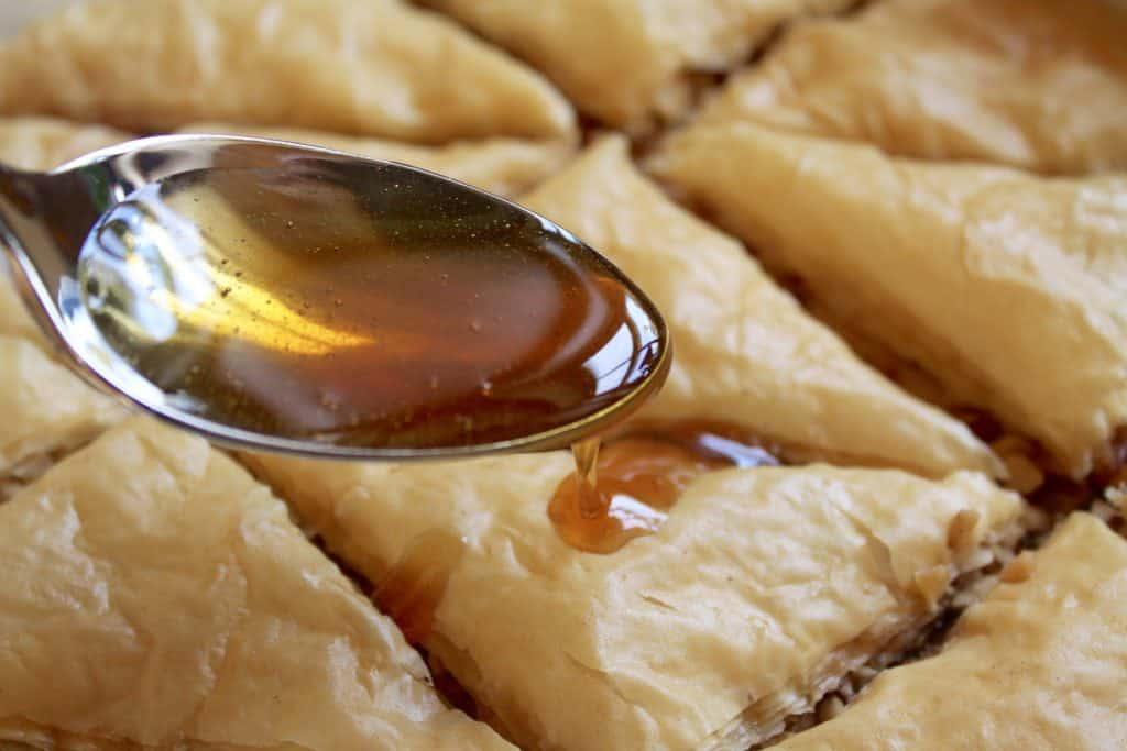making baklava