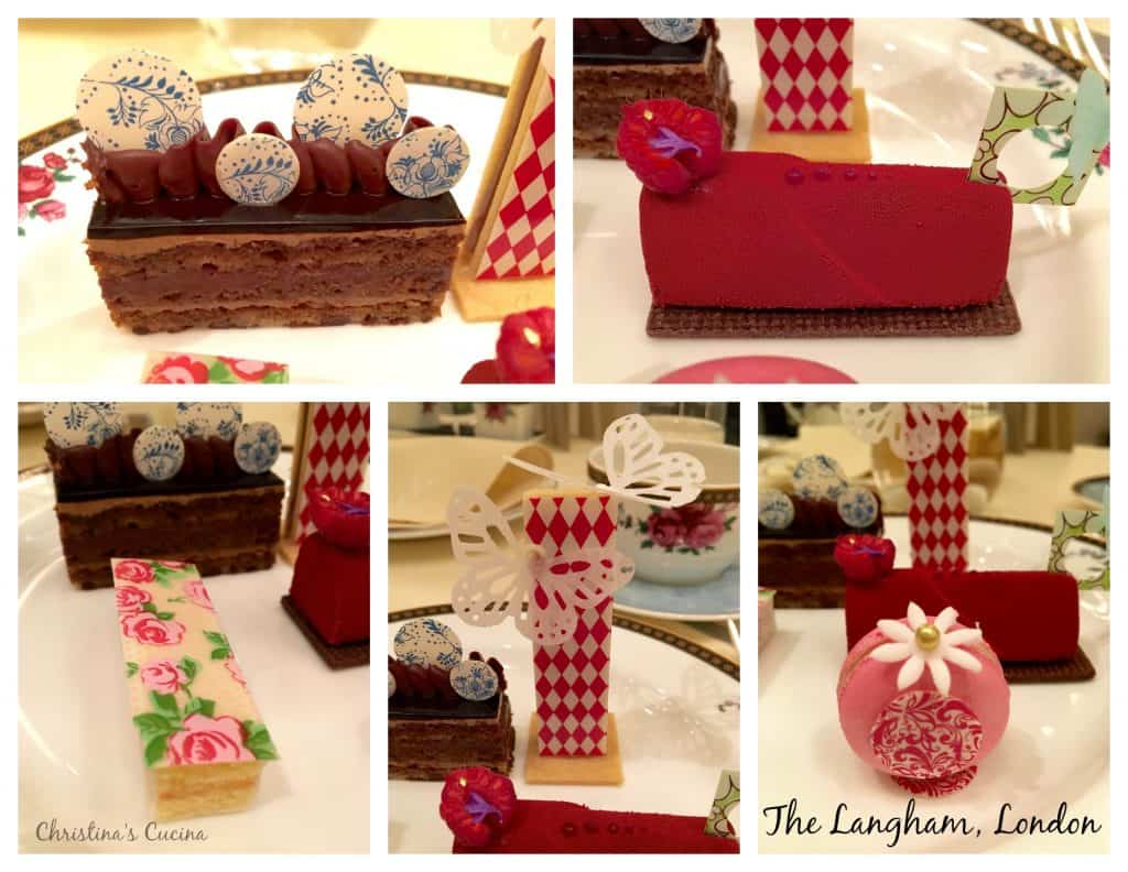 The Langham Afternoon Tea pastries by Cherish Finden