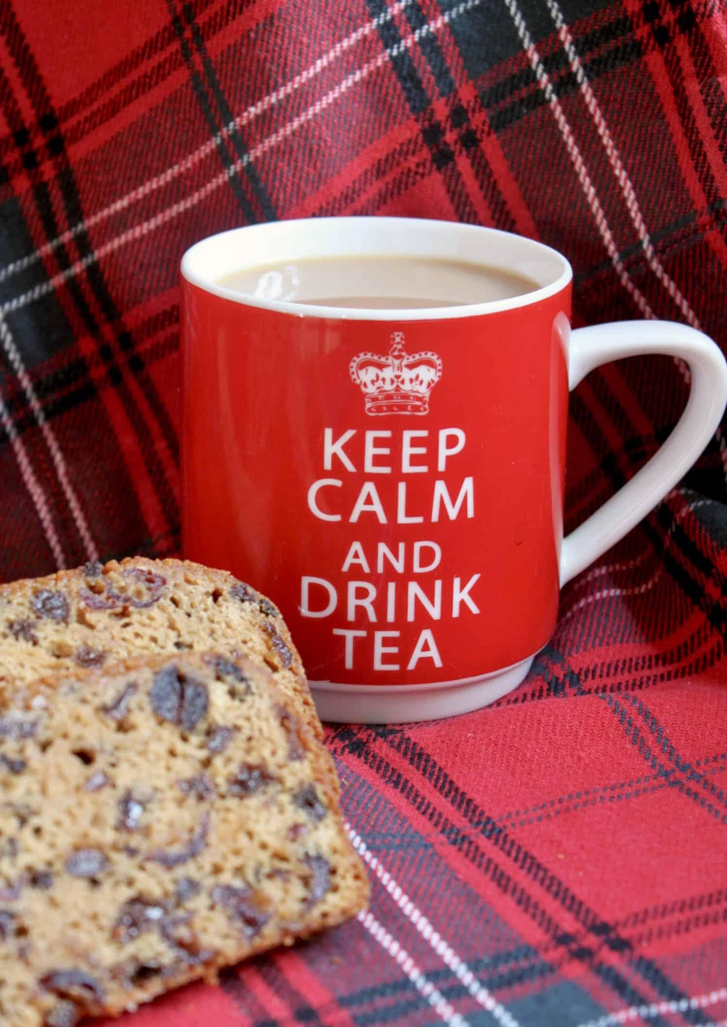 cup of tea and tea bread
