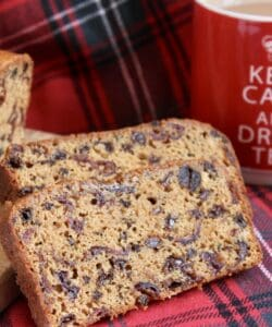 Scottish tea bread slice