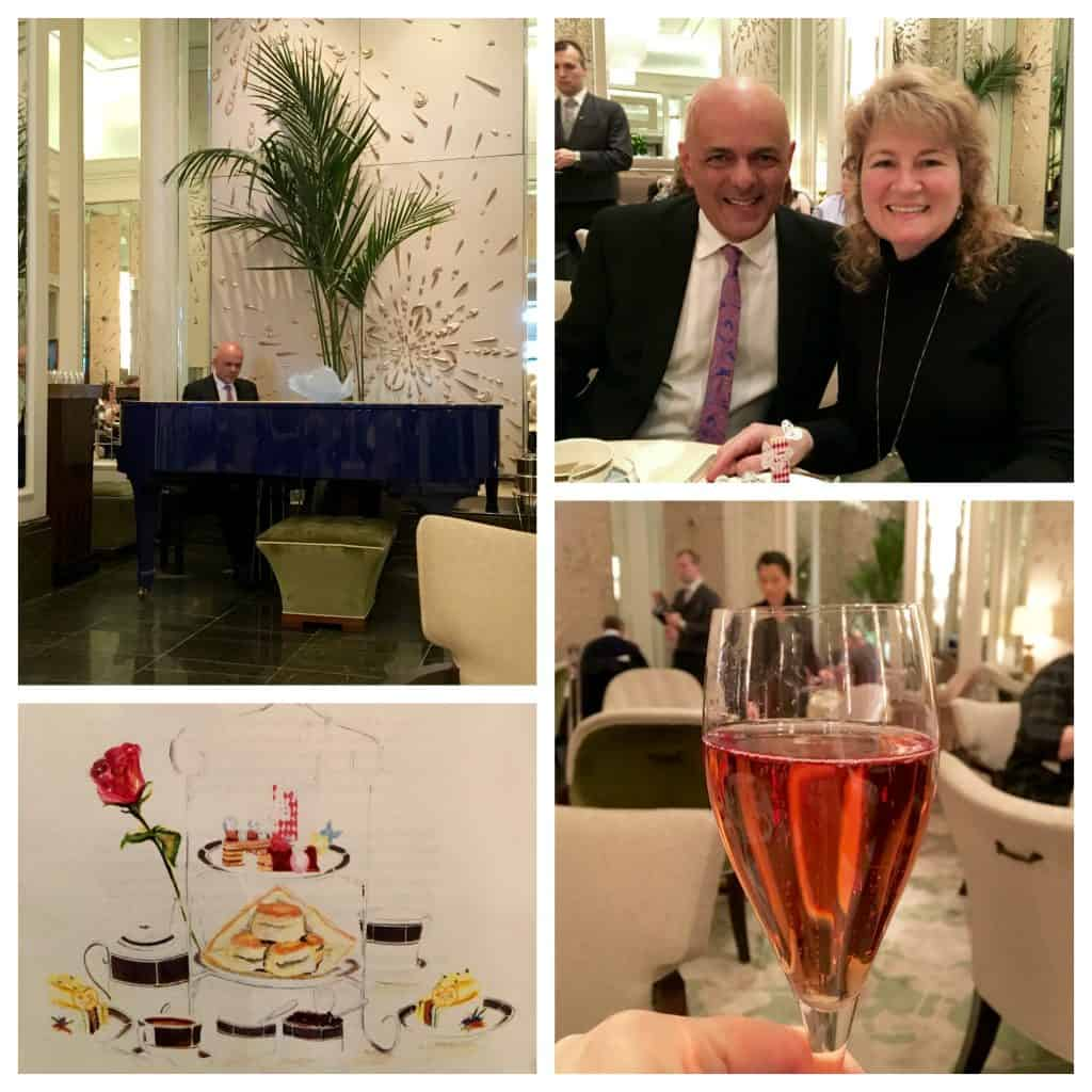 John Watson and Christina Conte at Palm Court, Langham - London