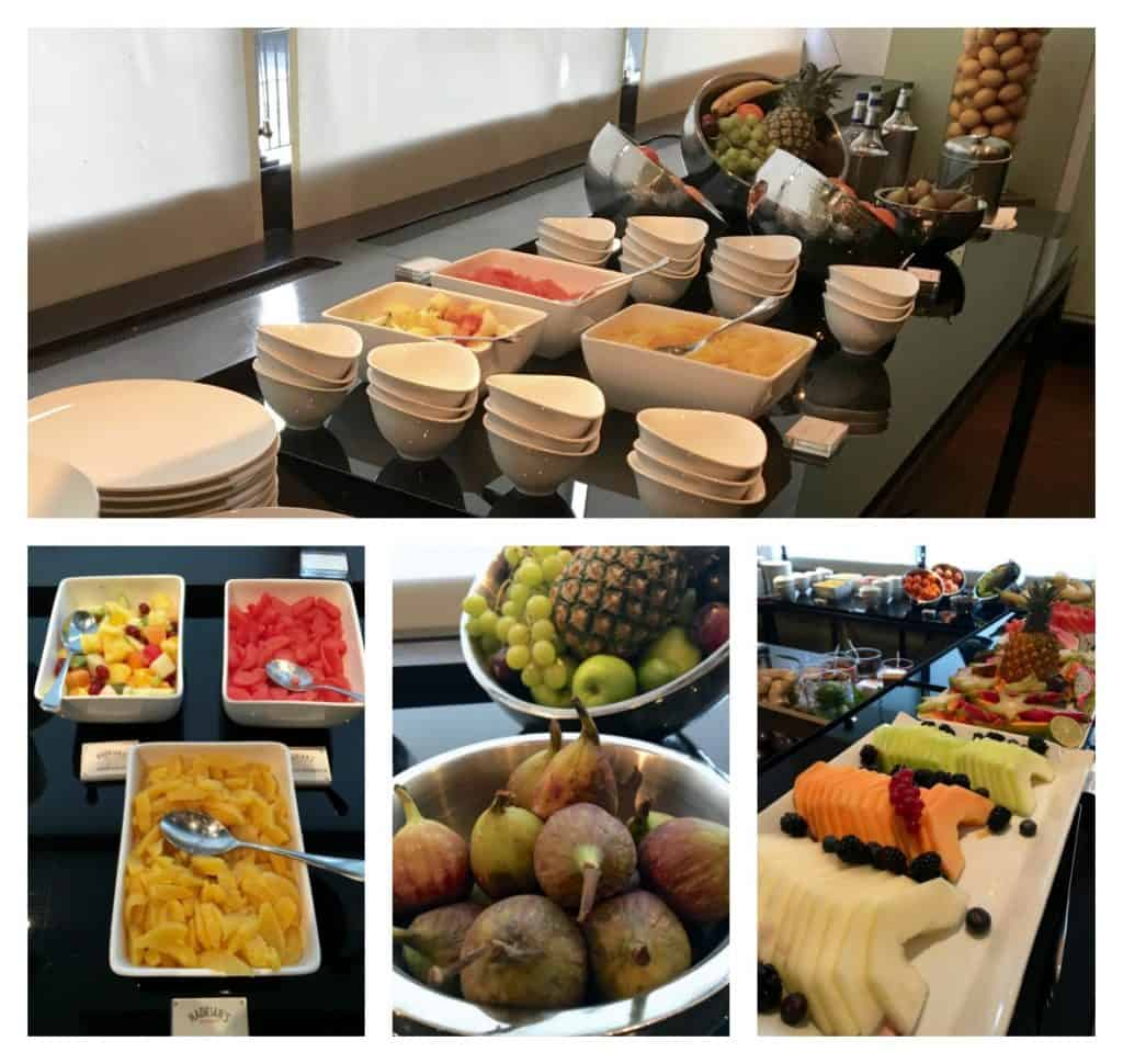 Fruit at the breakfast buffet at The Balmoral Hotel
