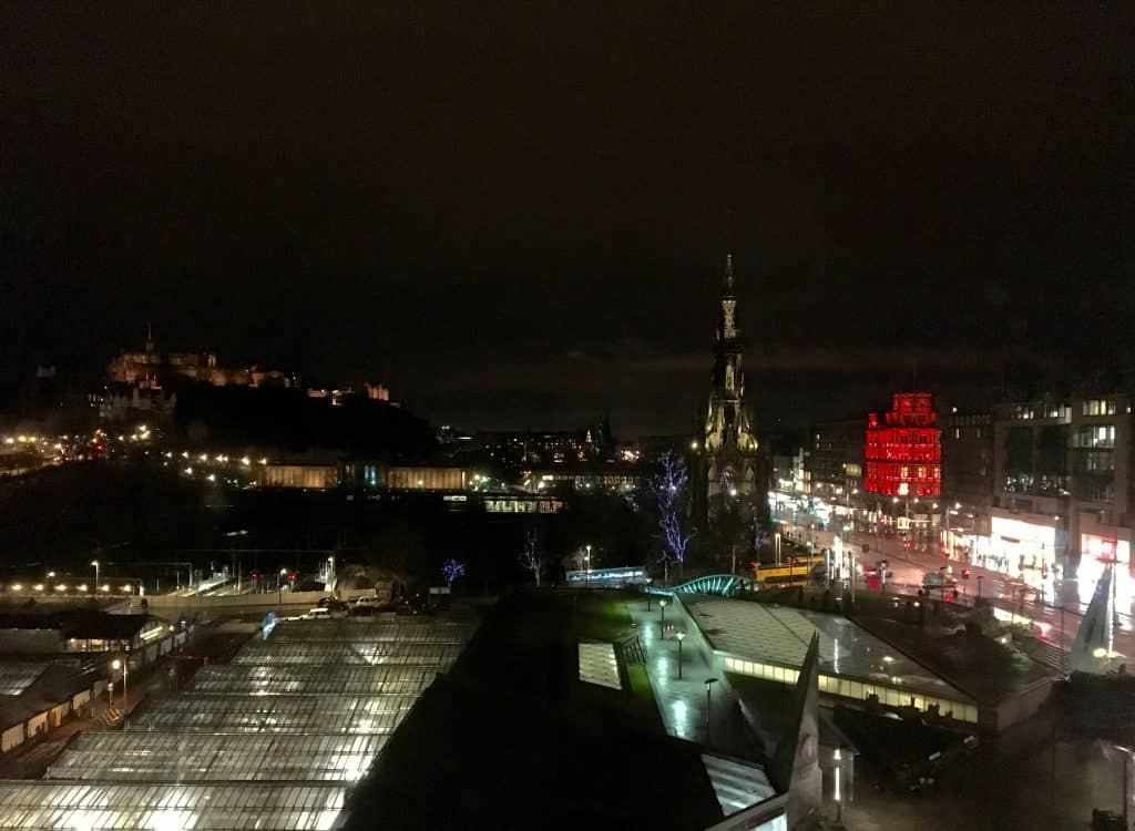 view from the Balmoral Hotel