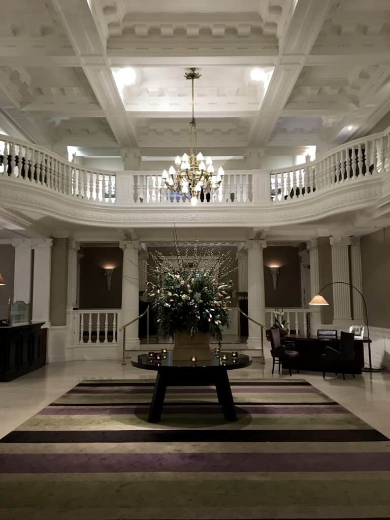 lobby at The Balmoral Hotel, Edinburgh