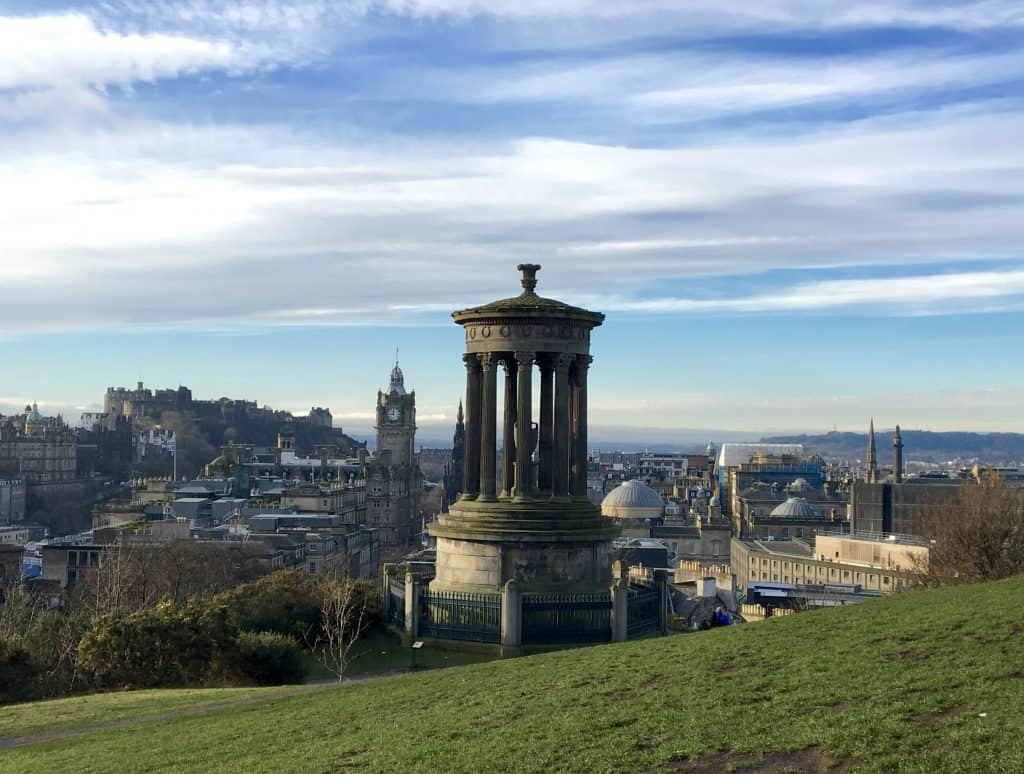 View of The Balmoral and Edinburgh from Calton Hill