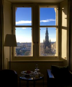 Morning view from The Balmoral, Edinburgh