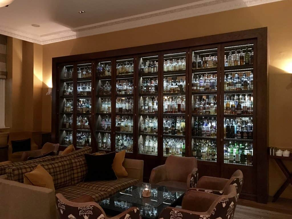 Whiskies at the Balmoral Whisky Bar