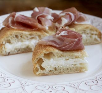 Burrata and Prosciutto Focaccia: Perfect as a Shared Appetizer, Snack or Delicious Lunch