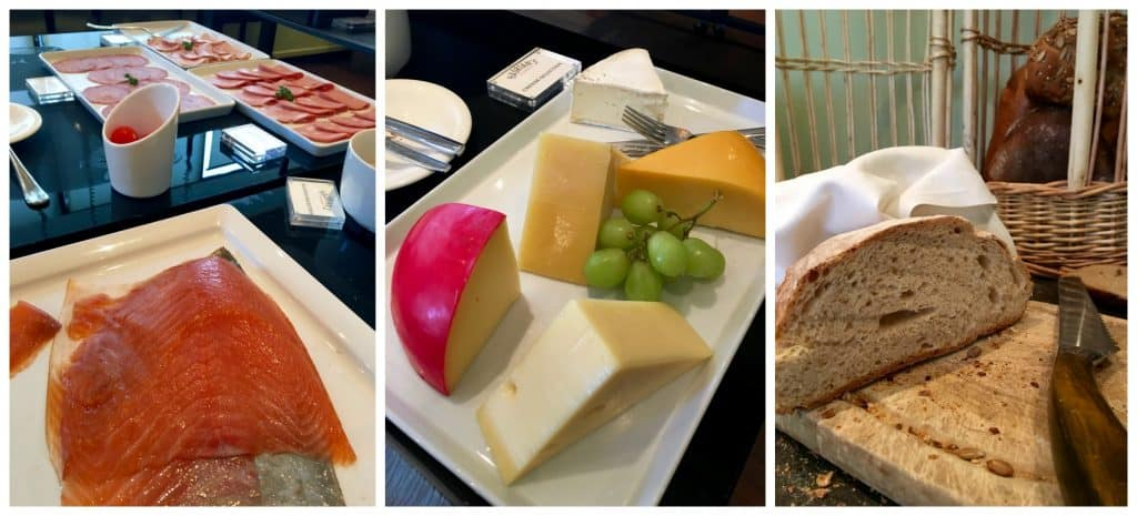 Meat and cheese options for breakfast at The Balmoral