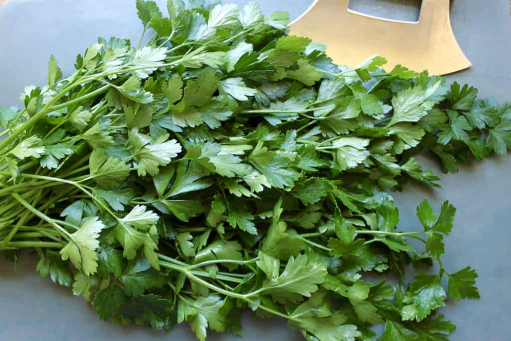 How to freeze fresh parsley