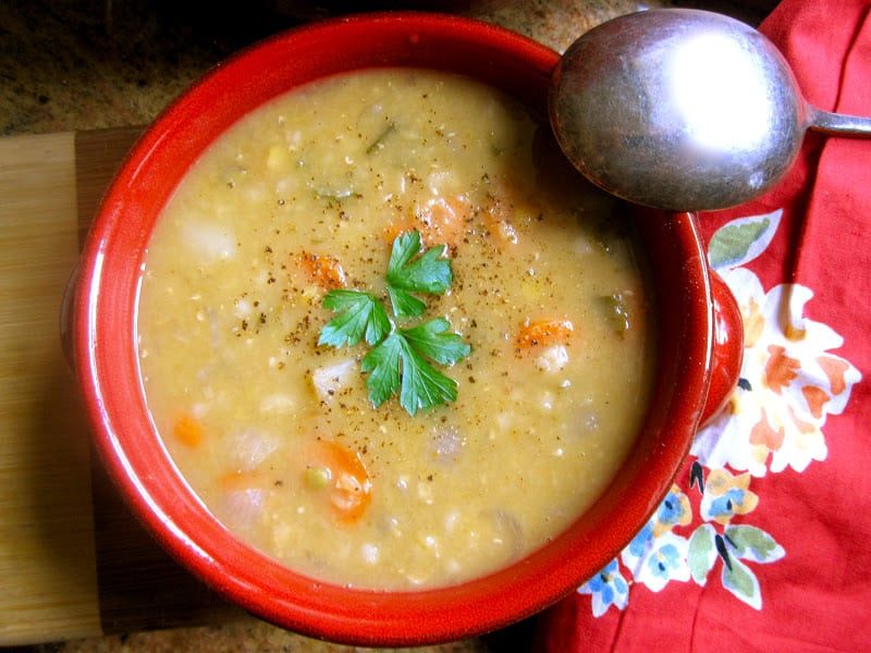Scottish Red Lentil and Barley Soup