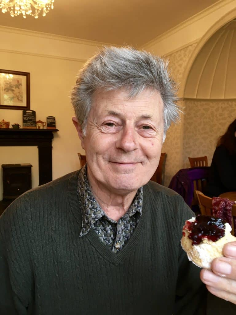My dad's first afternoon tea at 81!
