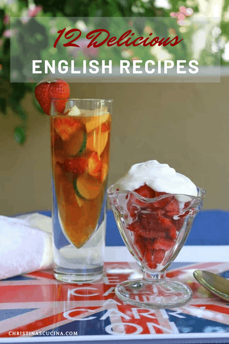 Pimm's cup and strawberries and cream