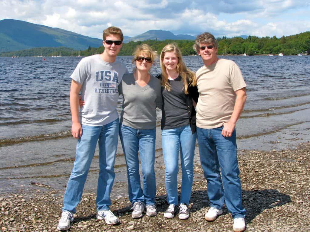 My family at Loch Lomond