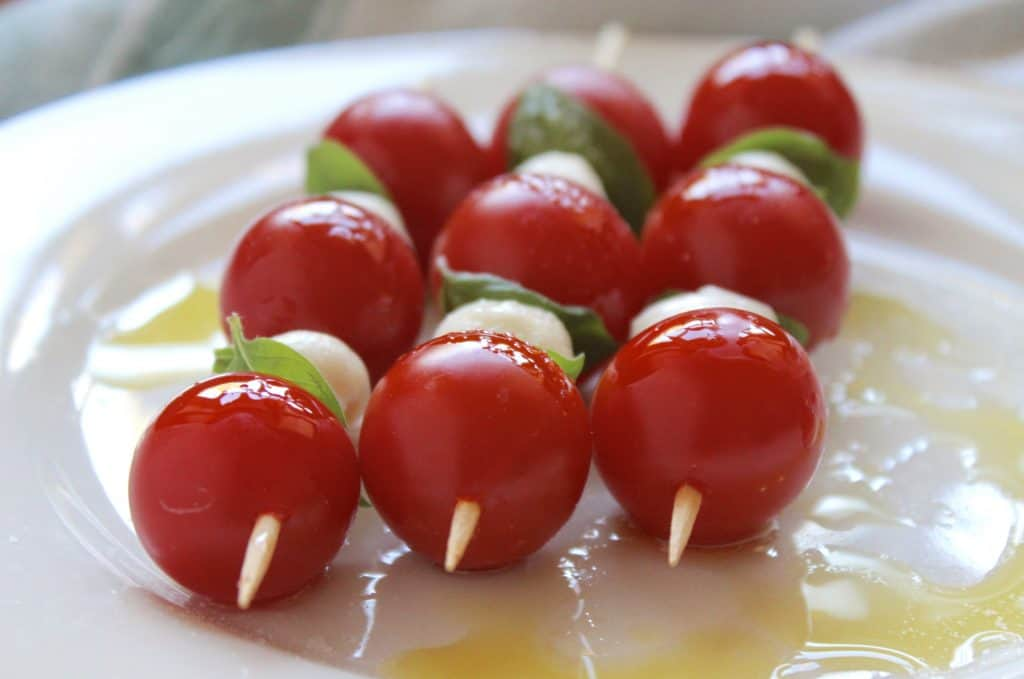 Caprese Skewers made the authentic way