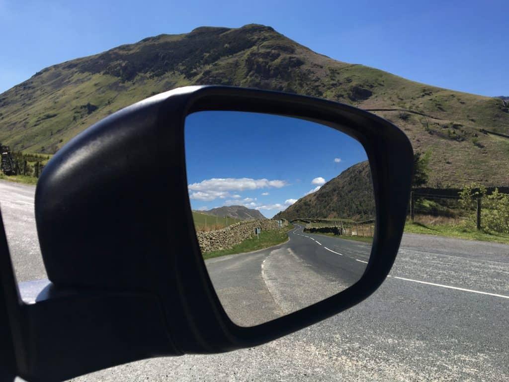 Twisty road in the UK