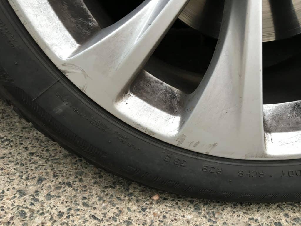 Scuffs on wheel -Glasgow Europcar scam