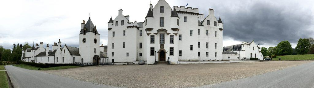 Blair Castle on a castle tour of Scotland