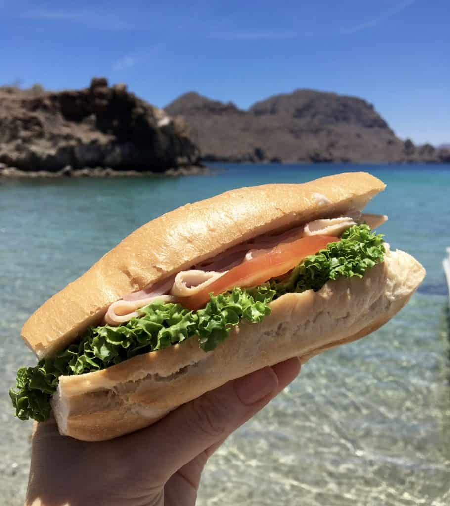 Lunch on Honeymoon Beach, Loreto