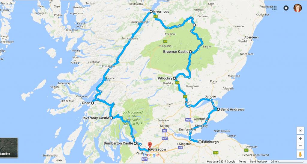 500 mile castle driving tour in Scotland