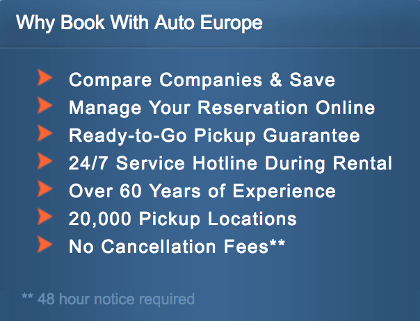 Why you should book with Auto Europe