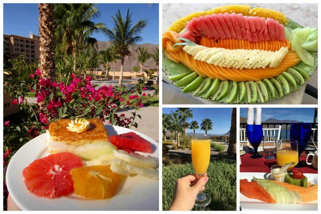 Fruit for breakfast at Villa Del Palmar Loreto