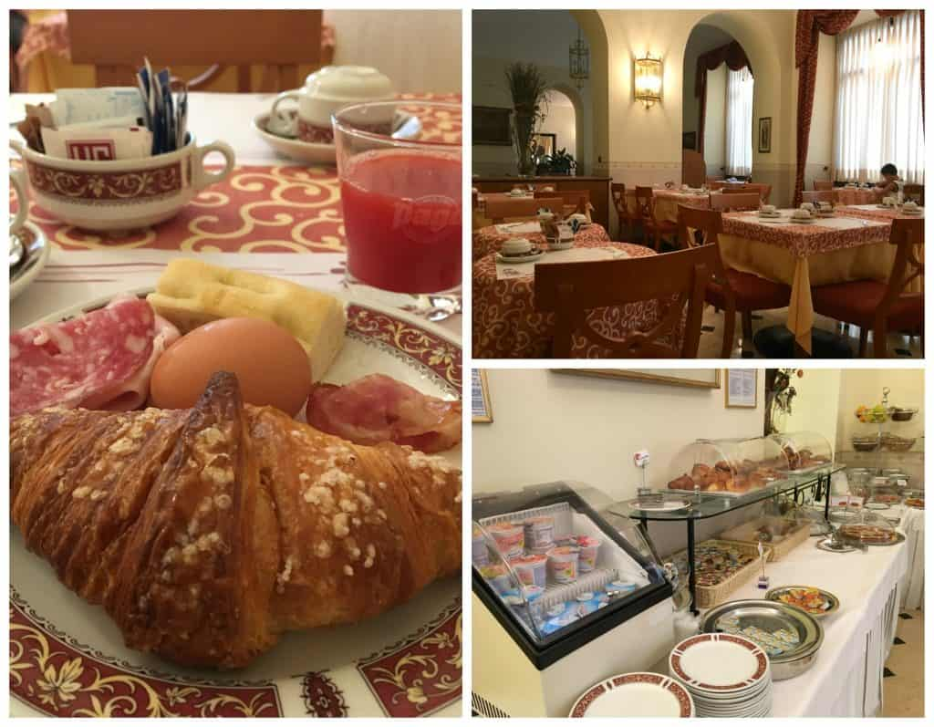 Breakfast at Hotel Genio in Turin