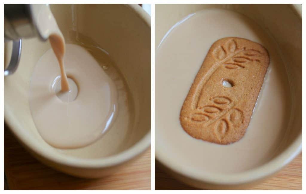 Dipping cookies into Magnum Cream Liqueur