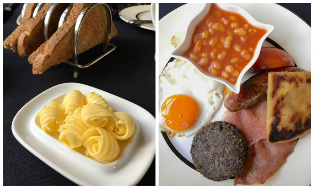 full Scottish breakfast at Eden Mansion