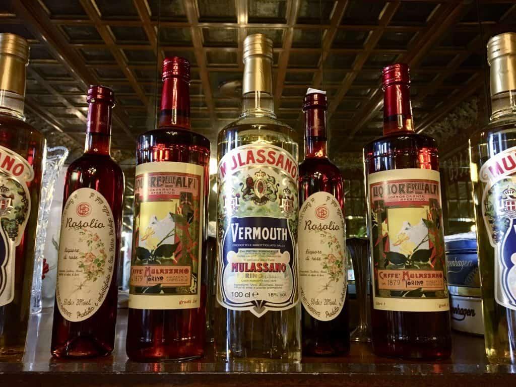 bottles vermouth turin torino bar aperitivi