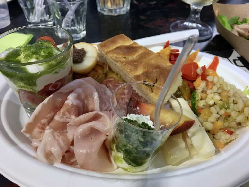 a plate full of delicious Italian dishes