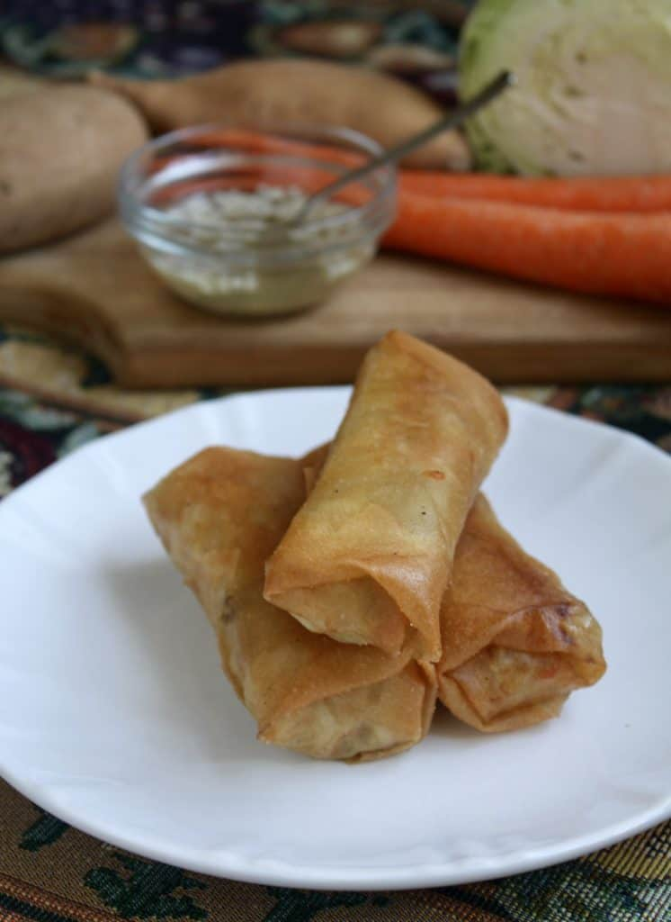 Lumpia on a plate