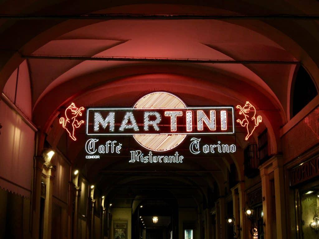 Martini sign turin torino segno caffe vermouth