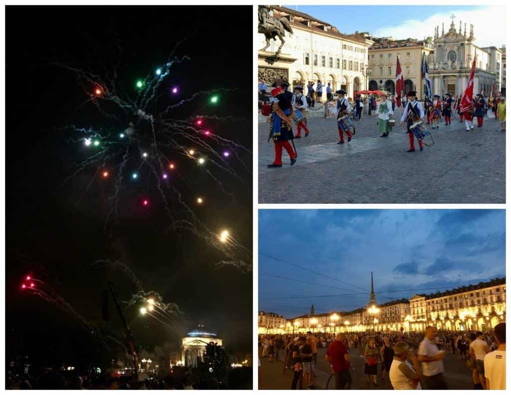 piazza torino turin fireworks festival parade St John