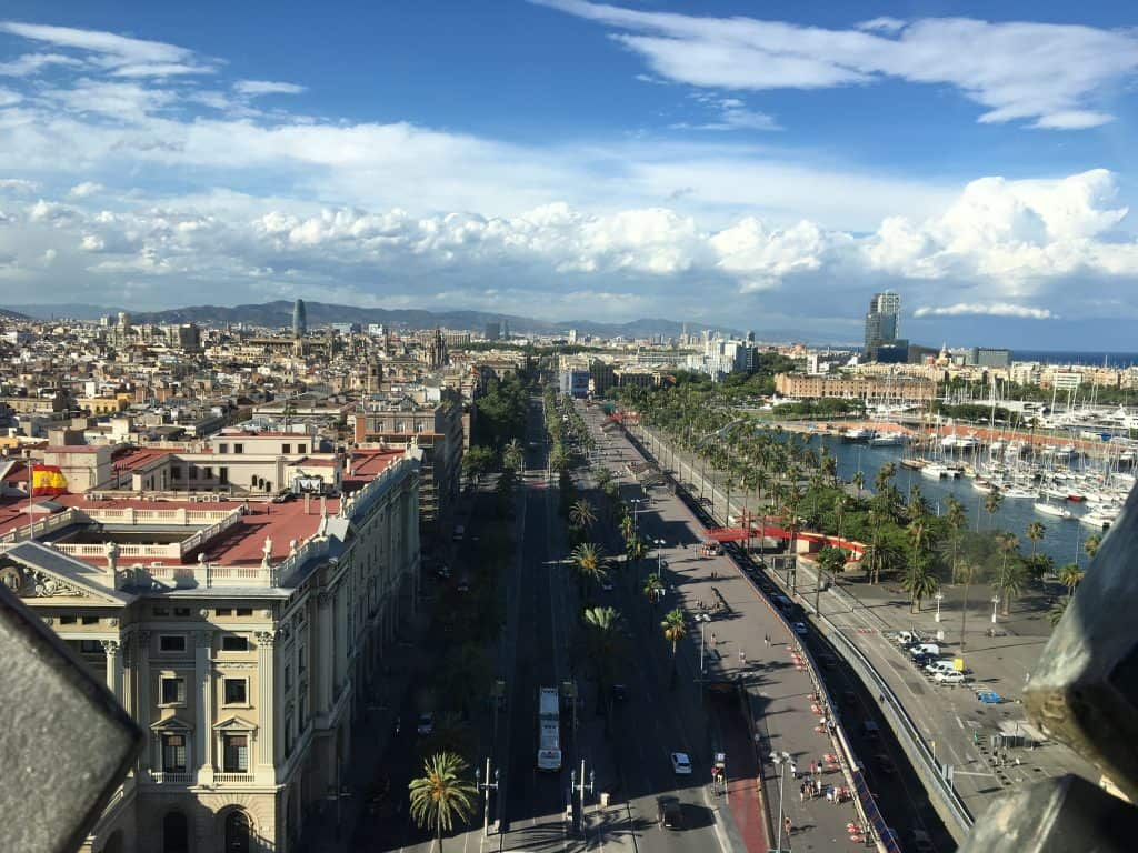View from Columbus monument Barcelona