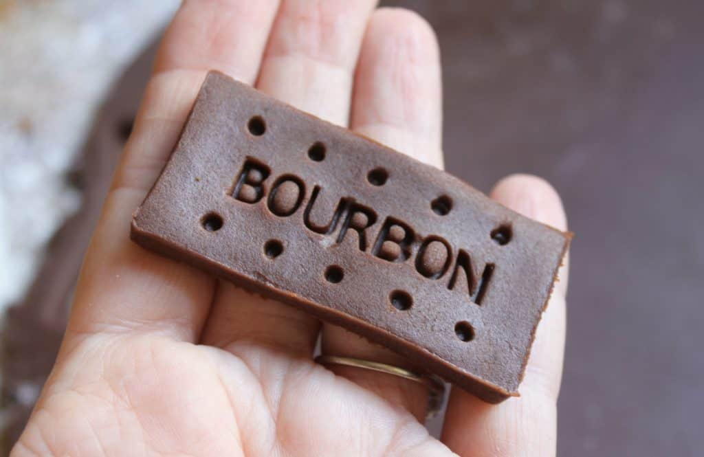 Making Bourbon Biscuits
