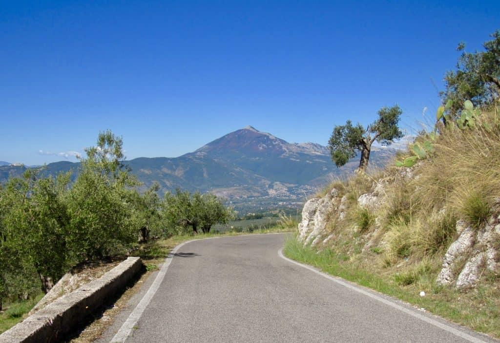 Scenic italian road trip view