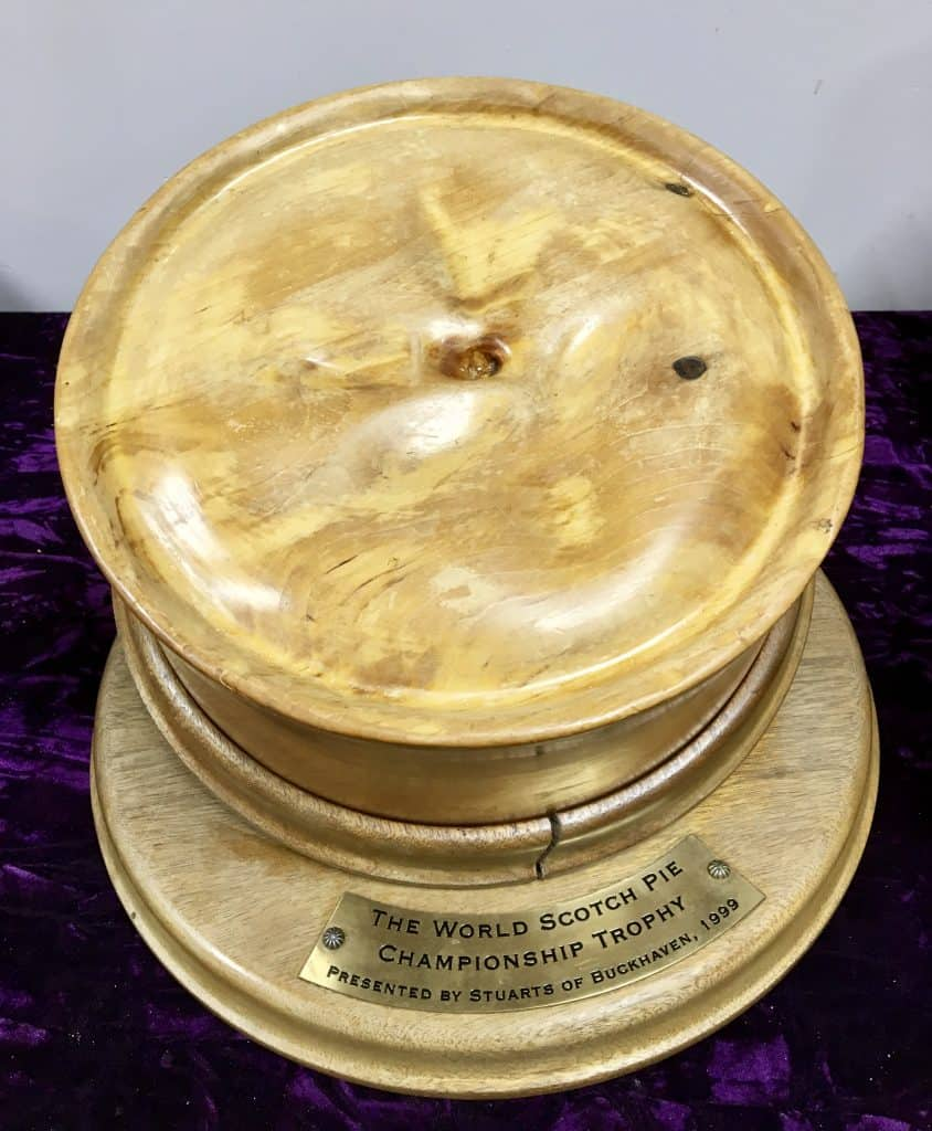 World Scotch Pie CHampionships trophy