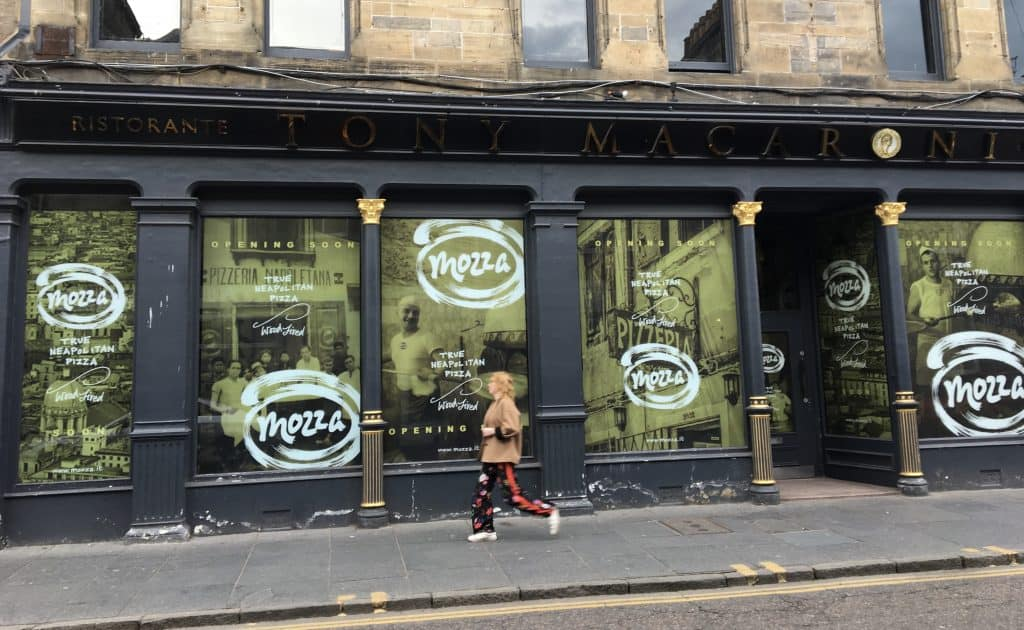 Mozza pizzeria in St Andrews, Scotland