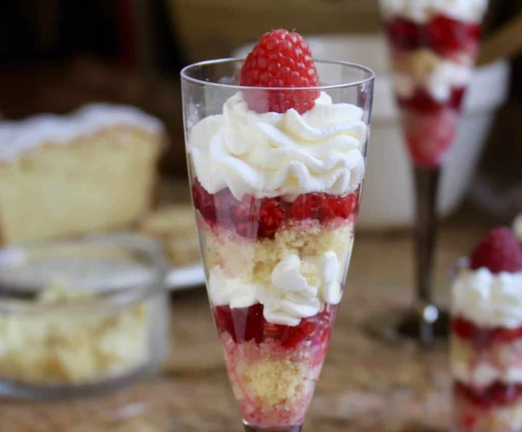 Individual lemon raspberry trifles trifle recipe whipped cream limoncello